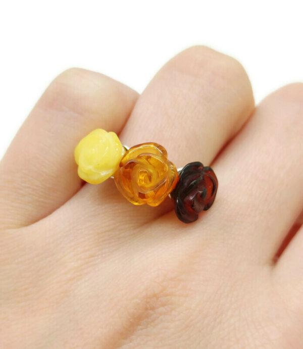 Natūralaus Baltijos gintaro žiedas
