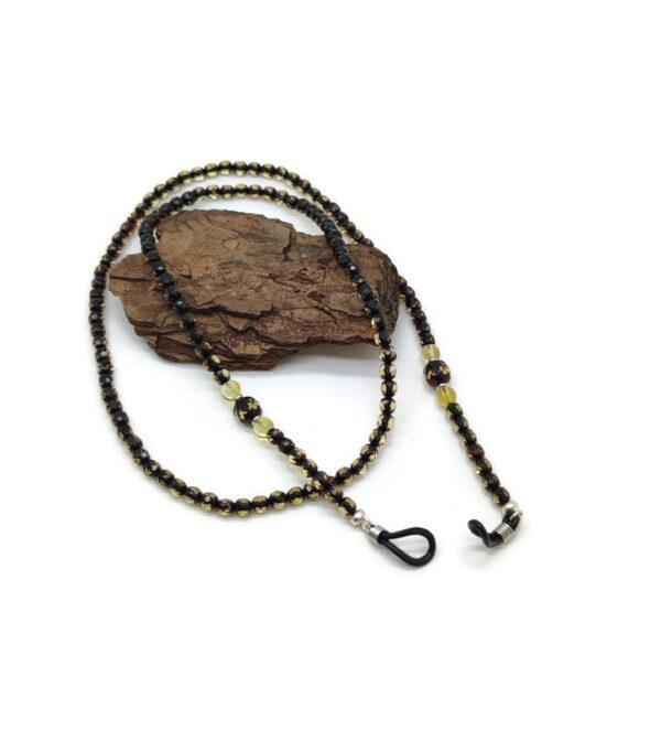 Natūralaus Baltijos Gintaro akinių grandinėlė – laikiklis