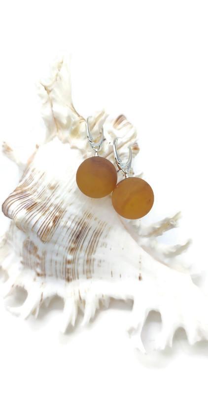 Natūralaus Baltijos gintaro auskarai