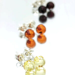 Faceted amber rounds